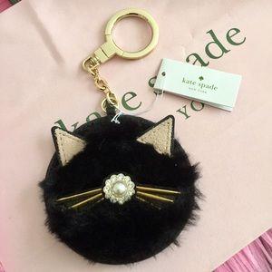Kate Spade Cat Key Fob Bag Charm NWT